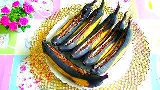 Лодочки из бананов с шоколадом. Вкусный десерт из бананов