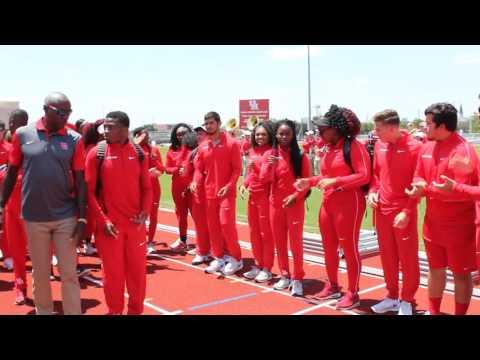 University of Houston 2016 Outdoor Track dedication