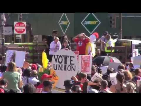 """""""Supersize Our Wages""""  $15 An Hour & A Union Bay Area Labor Rallies On April 15, 2015"""