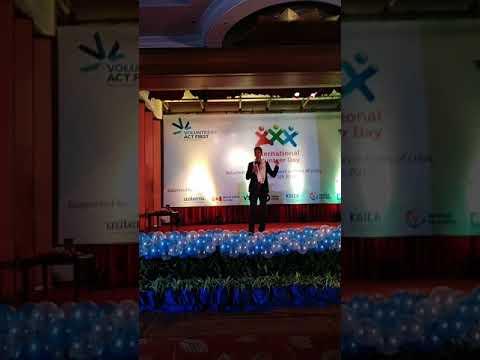 Speech after getting UN volunteer award by Mr.Rajan  Shrivastav/2017