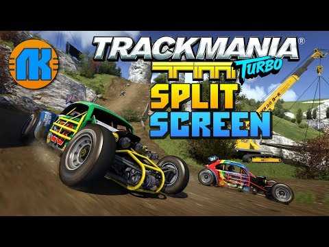 Trackmania Turbo \ Split Screen \ ГОНКИ НА ТРАСCАХ КАНЬОН \ СКАЧАТЬ ТРЕКМАНИЯ ТУРБО !!!