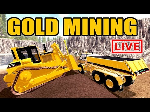 FARMING SIMULATOR 2017 | GOLD MINING + TAKING A LOAD OF GOLD TO THE BANK | MULTIPLAYER LIVE!
