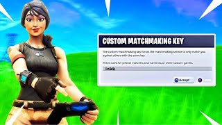 FORTNITE CUSTOM MATCHMAKING//SOLOS//CODE:inkk
