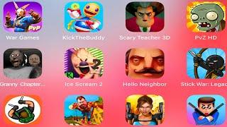 Hello Neighbor,Scary Teacher 3D,GrannyChapterTwo,HunterAssassin,MrBullet,StickWarLegacy,Ice Scream 2
