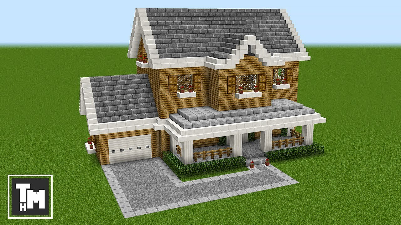 Minecraft How To Build A Suburban House Tutorial Easy Episode 1 2018 Youtube