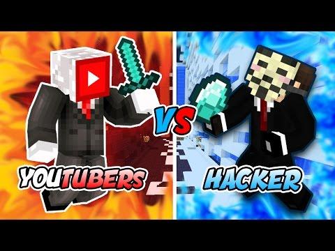 YOUTUBERS vs HACKERS (Minecraft SKYGiants) w/LandonMC, PrestonPlayz, and NoboomGaming