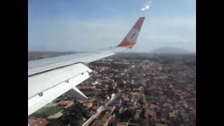 decolagem e pouso do avio da gol linhas arias por dentro e por fora do avio