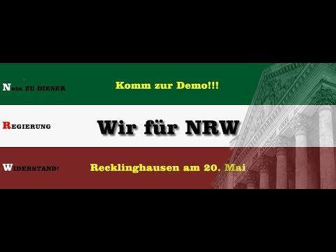 Demo in Recklinghausen am 20.05.2018 -Wir für NRW - Die Reden