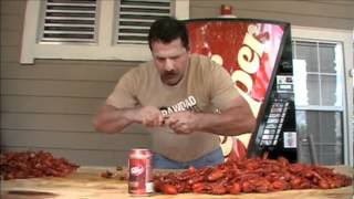 Worlds fastest crawfish eater, Johnny Robin