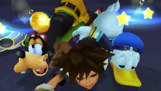 Kingdom Hearts, English cutscene: 39 - Sora Meets Donald and Goofy - HD 720p