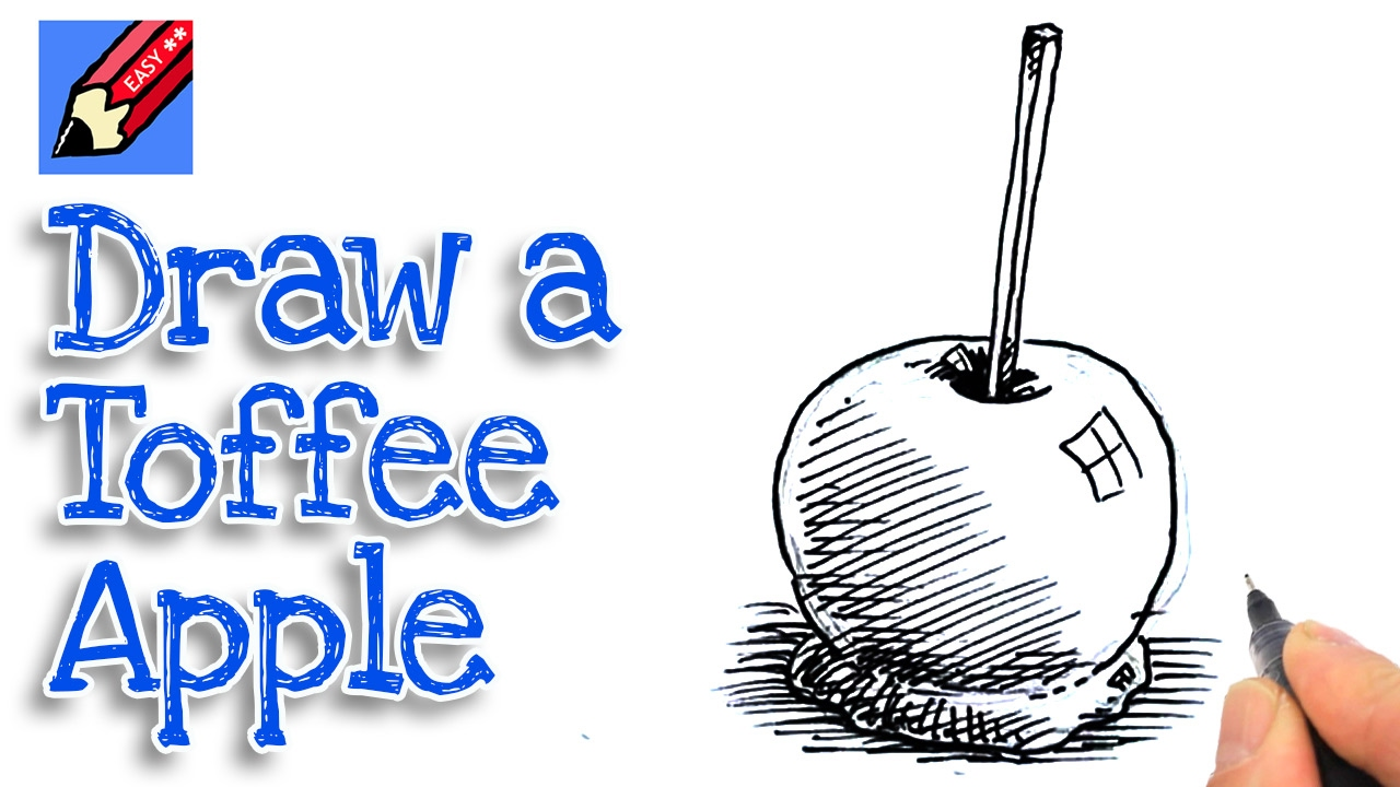 Learn How To Draw A Candy Apple Real Easy Step By Step With Easy Spoken Instructions Youtube
