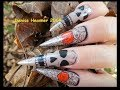 Halloween - Gothic Style / Rock & ROLL Nails / Roses & Skulls - Markers / Paint