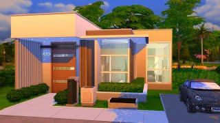 🏡 Modern Tiny House 🌱 Sims 4 Speed Build  No Cc