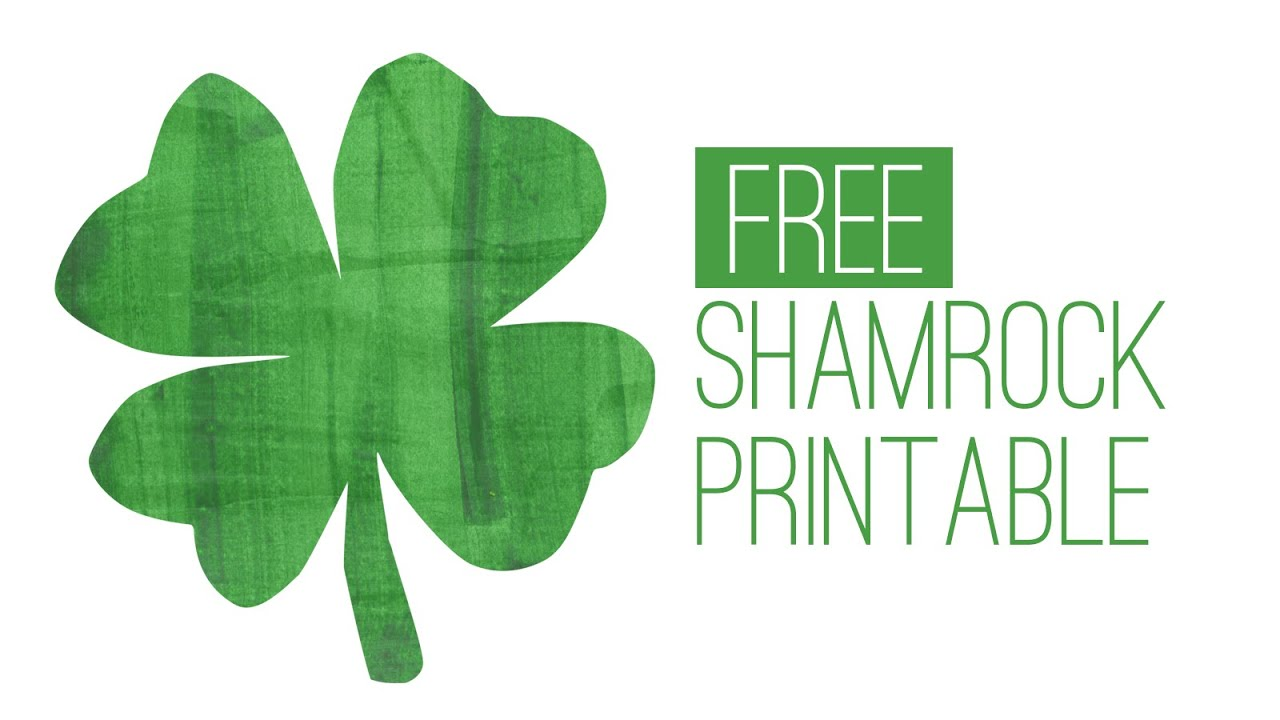 picture regarding Printable Shamrock named No cost St. Patricks Working day Printable - Shamrock Print