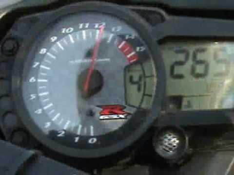 Suzuki GSXR 1000 K7 300km/h - YouTube