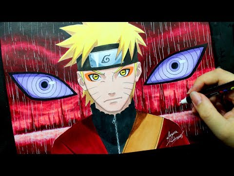 Speed Drawing - NARUTO SENNIN MODE