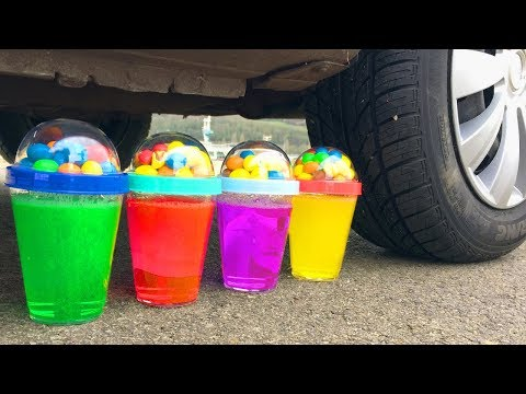 Crushing Crunchy & Soft Things by Car! EXPERIMENT Car vs ICECREAM & FOOD
