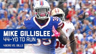 Mike Gillislee's Powerful 44-Yard TD! | 49ers vs. Bills | NFL