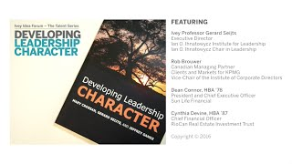 Thumbnail Ivey Idea Forum - The Talent Series | Developing Leadership Character