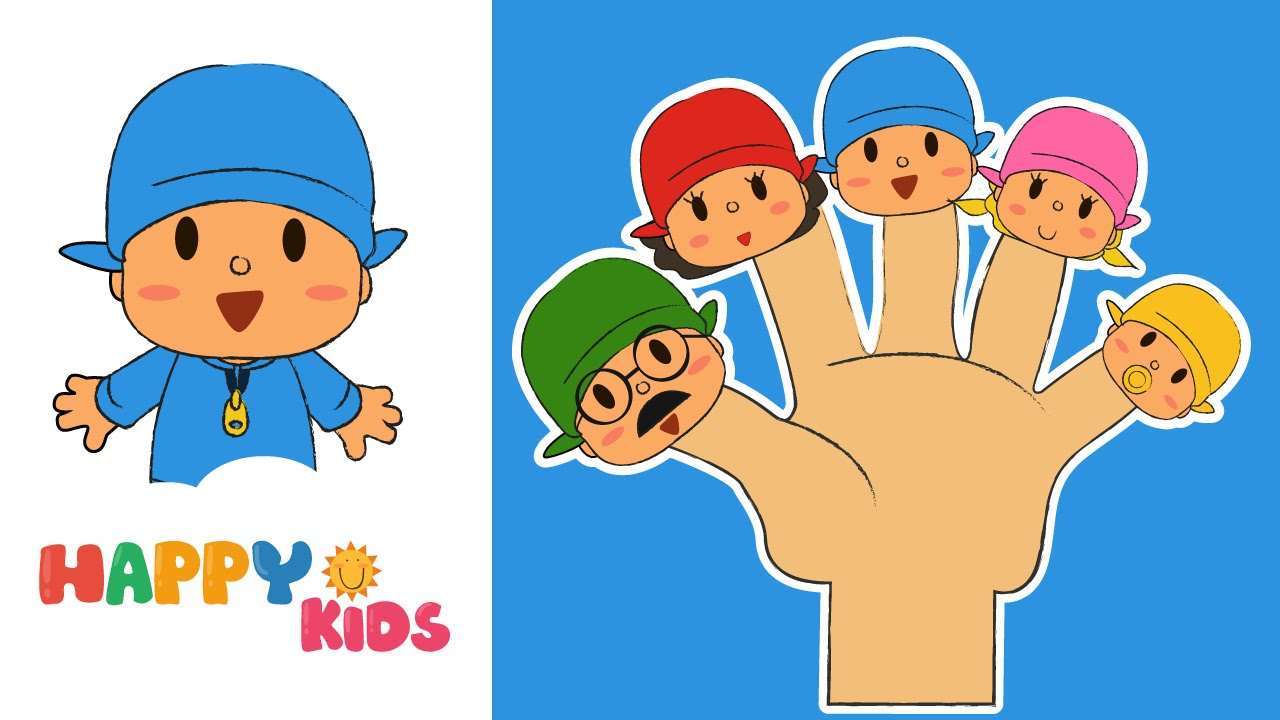 pocoyo finger family song nursery rhyme from happykids youtube