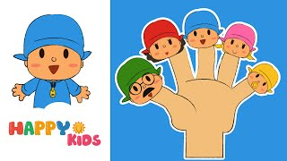Pocoyo Finger Family  Song Nursery Rhyme From HappyKids
