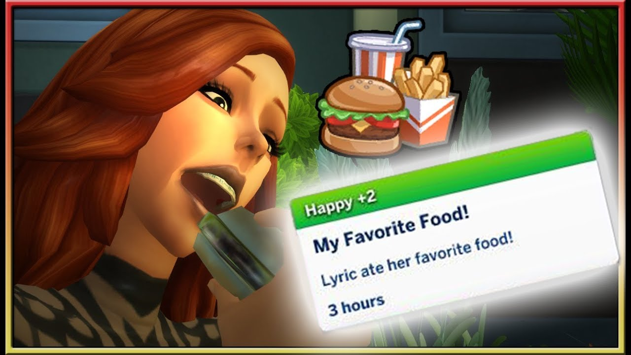 Choose Your Favourite Food Mod The Sims 4 Created By