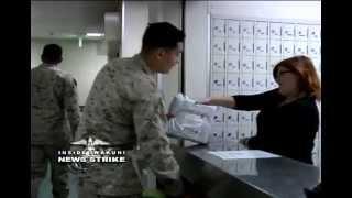 News Strike - Supply Clerk Marine Works at Base Postal