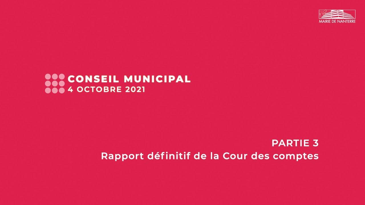 Conseil municipal du 4 octobre 2021 - PARTIE 3