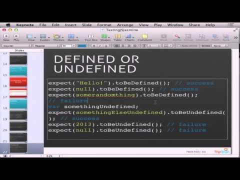 BDD Testing JavaScript with Jasmine