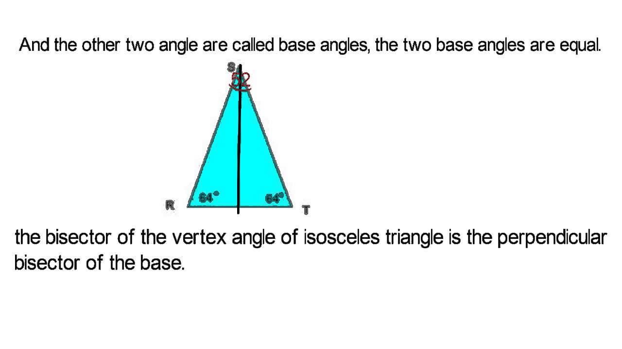 Properties of an isosceles triangle 46