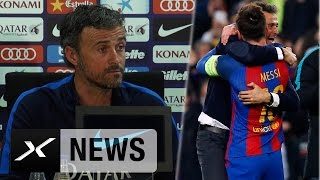 "Luis Enrique über Lionel Messi: ""Bester aller Zeiten""   FC Barcelona"