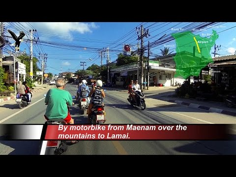 With the motorbike from Maenam over the mountains to Lamai-1 / Koh Samui