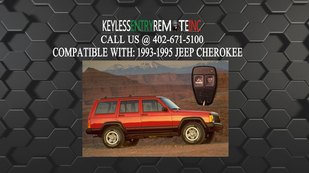 How To Replace Jeep Cherokee Key Fob Battery 1993 1994 1995