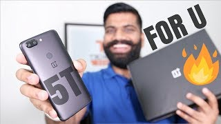 OnePlus 5T Unboxing and First Look - Giveaway Special
