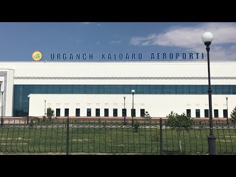 [4K] Uzbekistan A320 Посадка в Ургенч 01.05.2019
