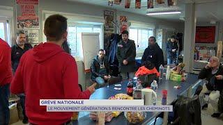 Yvelines | Grève nationale : le mouvement Génération.s rencontre les cheminots