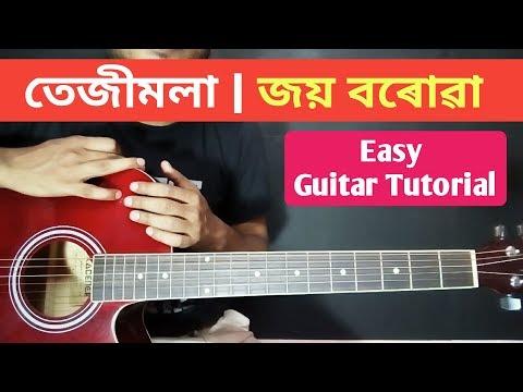 Teje Teje Tejimola Easy Guitar Chords Lesson For Beginners - Joi Barua   Assamese Song Guitar Chords