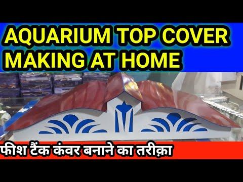 HOW TO MAKE AN AQUARIUM TOP COVER AT HOME AQUARIUM Decoration ideas