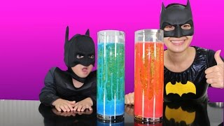Home Made Lava Lamp Experiment With Batman And Mumma Bat Cool Kids Activity Ckn Toys