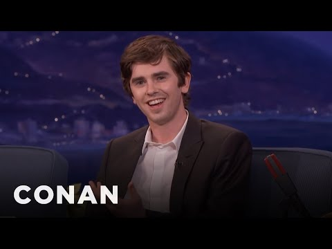 "Freddie Highmore Found Killing People On ""Bates Motel"" Cathartic  - CONAN on TBS"