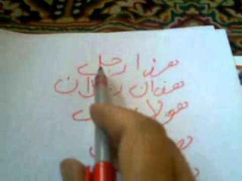 Arabic sentences based on singular,Duals and plurals with syed Haamid bukhari,bukharihamid786@gmail.com