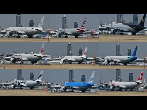 Tokyo Narita International Airport 34L 1 Hour Spotting 成田空港