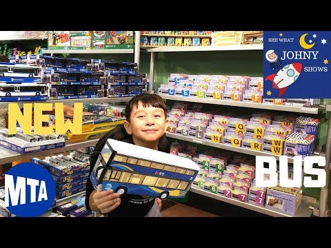 johny-goes-to-nyc-mta-transit-museum-store-for-new-mta-double-decker-bus-toy-&-subway-toys