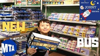 Johny Goes To NYC MTA Transit Museum Store For NEW MTA Double Decker Bus Toy & Subway Toys