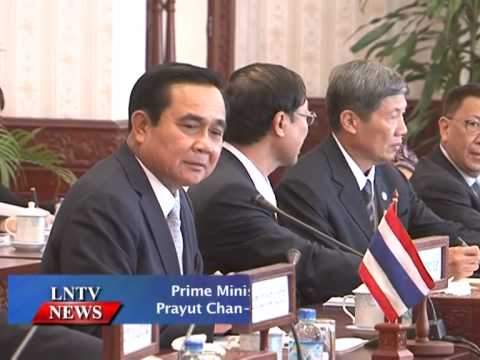 Lao NEWS on LNTV: Prime Minister of Thailand Prayut Chan-o-cha Visits Laos.26/11/2014