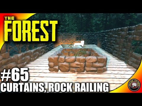 The Forest Gameplay - Curtains, Hole Cutter, Rock Rails - Let's Play S16EP65 (Alpha V0.39)