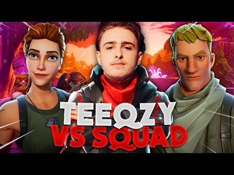 RANK 1 24 KILLS IN TEEQZY VS SQUAD! (FORTNITE ROYAL BATTLE GAMEPLAY)