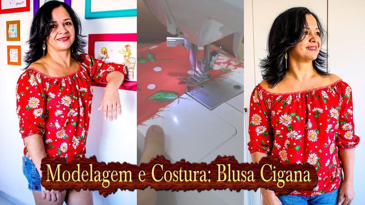 Conhecido Modelagem e Costura: Blusa Ciganinha - YouTube FL85