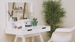 Hartleys Direct White Modern Dressing Table & Mirror
