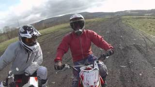 Trail riding with the Welsh PitBike 140 Race